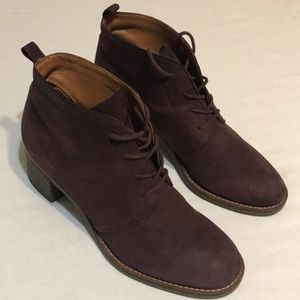 Women's Sarto Burgundy Low Boots size 7